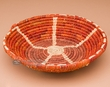 "Pueblo Indian Style Saucer Basket 9"" (a54)"