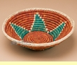 "Pueblo Indian Style Saucer Basket 10"" (a54)"