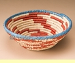 "Pueblo Indian Style Saucer Basket 9"" (a44)"