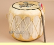 "Native Pueblo Painted Drum 14.5"" x11.5"" -Rainbird  (pd70)"