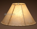 Rawhide Lamp Shades & Painted Leather Shades