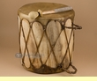 "Rawhide Native Aspen Log Drum 15""x15.5""  (c1)"
