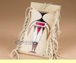 "Painted Rawhide Parfleche Medicine Bag 8"" -Ancients (b46)"