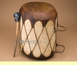 "Native Log & Drum 13""x16""   (pd11c)"