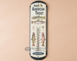Rusitc Lodge Metal Art Thermometer Sign -Trout  (t7)