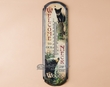 Rusitc Lodge Metal Art Thermometer -Welcome Bears  (t6)