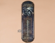 Rusitc Metal Art Thermometer -Four Wheels  (t11)