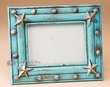 Rustic Southwestern Picture Frame for 5x7 -Turquoise  (p29)