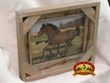 Rustic Barn Wood & Barb Wire Picture Frame 8x10