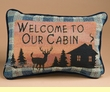 "Rustic Cabin Pillow 12.5""x8.5"" -Welcome  (p41)"
