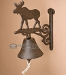 Rustic Cast Iron Bell -Moose