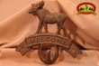 Rustic Cast Iron Western Welcome Hook -Moose  (31)