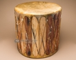 Rustic Cedar Tarahumara Indian Drum Table 20x20 (cd2020)