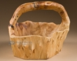 Rustic Cedar Tree Trunk & Root Bowl Basket  (b12)