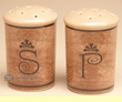 "Rustic Ceramic Salt & Pepper Shaker Set 3""  (sp9)"