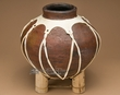 Rustic Dark Western Tarahumara Indian Pottery Vase