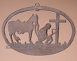 Rustic Cast Iron Wall Plaque -Cowboy Cross