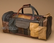 """Rustic Handcrafted Leather Bag 21"""" -Multi-brown (db10)"""