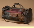 "Rustic Handcrafted Leather Duffle Bag 22"" -Multi-brown (db10)"
