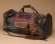 "Rustic Handcrafted Leather Bag 21"" -Multi-brown (db10)"
