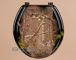 rustic hunter painted toilet seat real tree camo t8