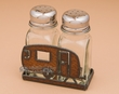 Rustic Laser Art Salt & Pepper Shaker -Camper (sp13)