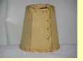 "Rustic Leather Chandelier Lamp Shade - 4"" Desert Sand Pig Skin"