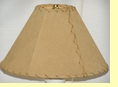 "Rustic Leather Lamp Shade - 14"" Sand Pig Skin"