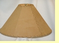 "Rustic Leather Lamp Shade - 16"" Sand Pig Skin"