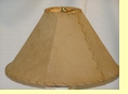 "Rustic Leather Lamp Shade - 18"" Sand Pig Skin"