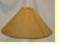"Rustic Leather Lamp Shade - 24"" Sand Pig Skin"