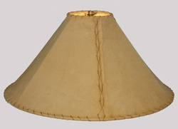 Rustic Leather Lamp Shades -Desert Sand