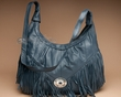 Rustic Leather Southwestern Cowhide Purse-Blue  (60)