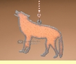 Rustic Metal Art Chain Pull -Wolf  (p213)