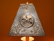 """Rustic Metal Punched Tin Lamp Shade 9.5"""" -Gecko  (TS2)"""