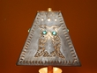 "Rustic Metal Punched Tin Lamp Shade 9.5"" -Owl  (TS1)"
