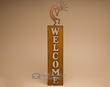 Rustic Metal Southwest Welcome Sign -Kokopelli  (w23)