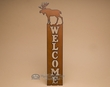 Rustic Metal Southwestern Welcome Plaque -Moose  (w25)