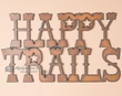 Rustic Metal Wall Plaque -Happy Trails  (p208)
