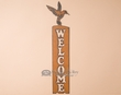 Rustic Metal Wall Sign -Humming Bird Welcome  (p205)