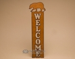 Rustic Metal Western Welcome Plaque -Bear  (w22)