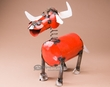 "Rustic Metal Yard Art 16"" -Steer  (ma105)"