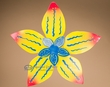 "Rustic Metal Yard Art 18"" -Yellow Flower  (ma118)"