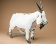 "Rustic Metal Yard Art 19"" -Goat  (ma112)"