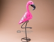 "Rustic Metal Yard Art 21"" -Flamingo  (ma101)"