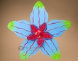 "Rustic Metal Yard Art 23"" -Blue Flower  (ma119)"