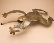 "Rustic Metal Yard Art 27"" -Frog  (ma114)"