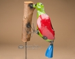 "Rustic Metal Yard Art 41"" -Wood Pecker on Stick  (ma115)"