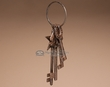 Rustic Old Fashioned Western Metal Key Ring