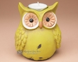 Rustic Owl Votive Candle Holder  (a3)